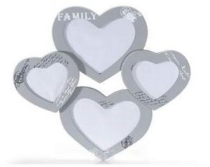 Képkeret fa 4 szív