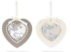 Képkeret fa szív gyöngyökkel