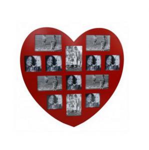 Képkeret szív alakú piros