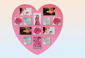 Képkeret szív rózsaszin