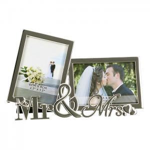 """Képtartó """"Mr&Mrs"""" ezüst"""