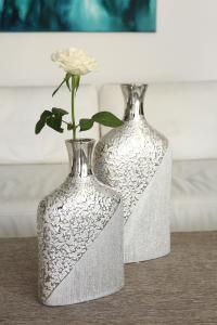 Kerámia váza ezüst