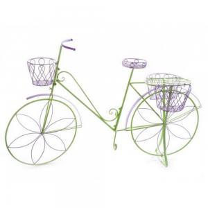 Kerékpár dekoráció lila-zöld