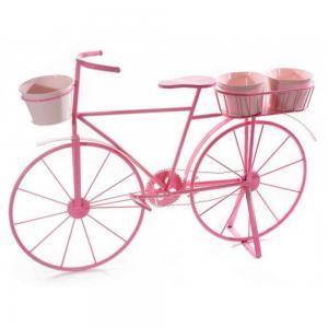 Kerékpár dekoráció rózsaszin