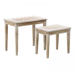 Levélmintás asztal szett 2db