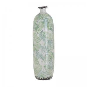 Levélmintás kerámia váza hosszú