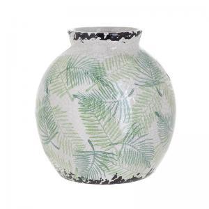 Levélmintás kerámia váza