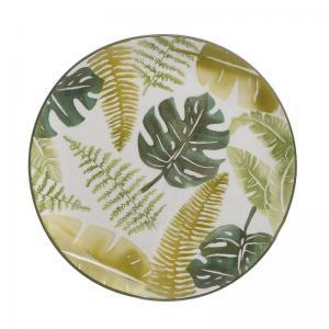 Levélmintás tányér