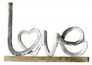 Love felirat ezüst