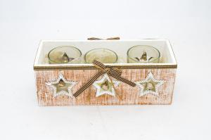 Mécsestartó üveges fa dobozban