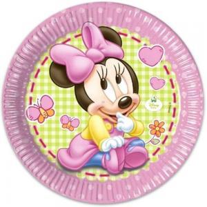Minnie papirtányér 8db/csomag