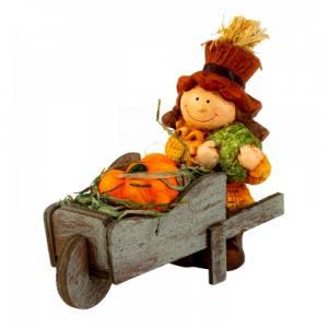 Őszi figura fa kocsival