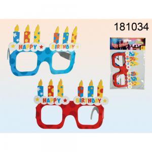 Papir party szemüveg 4db/csomag