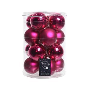 Pink gömb 8cm 16db/csomag