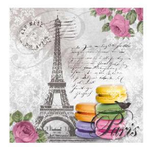 PPD szalvéta MACARONS DE PARIS 33x33 cm