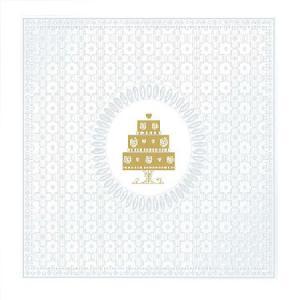 PPD szalvéta MEDAILLON CAKE PEARL 33x33 cm
