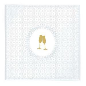 PPD szalvéta MEDAILLON CHEERS LUNCH 33x33 cm