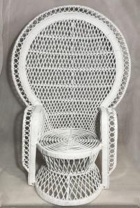 Rattan szék fehér