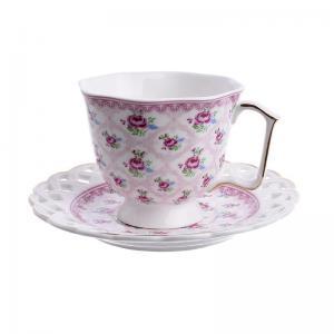Rózsás csésze szett 6db