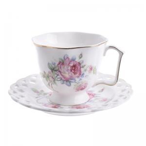 Rózsás csésze szett nagy