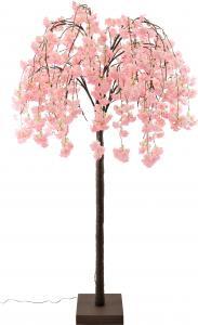 Rózsaszin fa világítással
