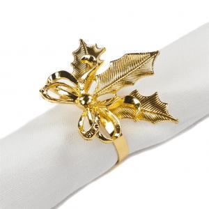 Szalvéta gyűrű arany masni
