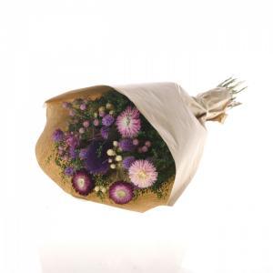 Száraz virág csokor lila