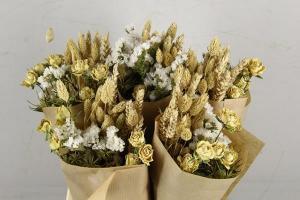 Száraz virág csokor sárga