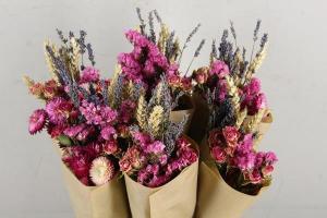 Száraz virág csokor pink