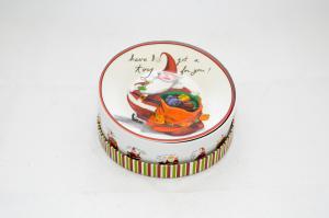 Tányér porcelán télapó zsákkal 4db-os díszdobozban