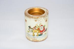 Karácsonyi gyertyatartó kerámia közepes 9cm