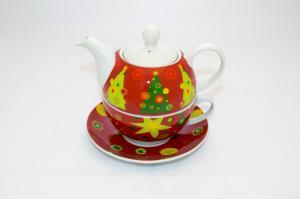 Teáskancsó csészével karácsonyos