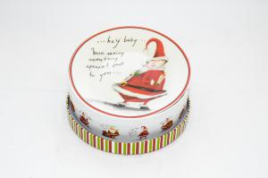 Télapós porcelán tányér 4db-os díszdobozban