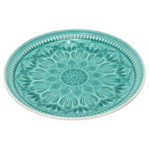 Türkíz tányér 27 cm