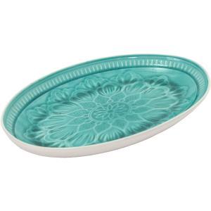 Türkíz tányér