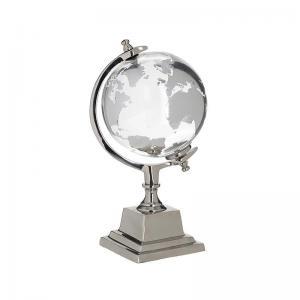 Üveg fém földgömb kicsi