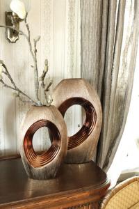 Váza barna-réz nagy