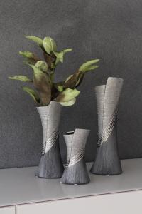 Váza kicsi ezüst-szürke