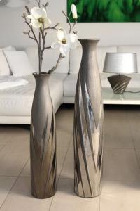 """Váza kicsi """"Yucca"""" antarcit-ezüst"""