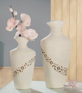"Váza ""Soffione"" nagy beige/barna 40cm"