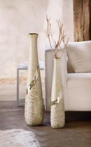 """Váza """"Stella"""" champagne padlóváza nagy"""