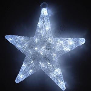 Világítós csillag felakasztós 30 LED-es fehér