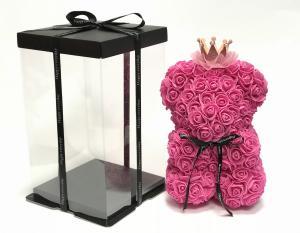 Virágmaci koronával-kalappal rózsaszín