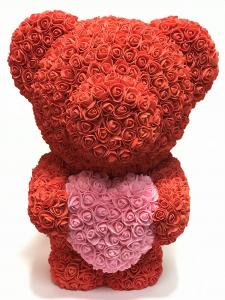 Virágmaci koronával nagy piros