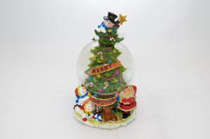 Zenélő hógömbös karácsonyfa felhúzható