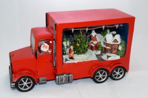Zenélő világítós kamion piros (elfogyott)